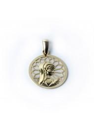 Medalla Comunión oro 18k